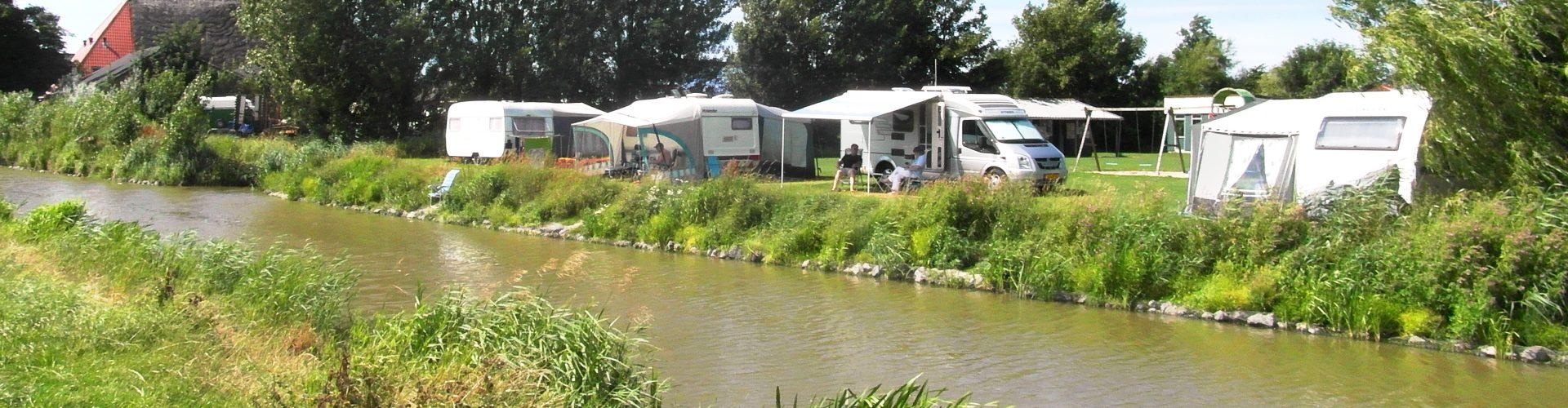 Camping aan het water, friesland
